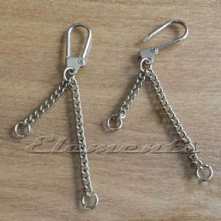 Nickel Plated Key Rings With Two Chains BM061